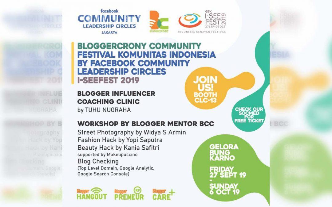 Bloggercrony Ramaikan ISeeFest 2019 di Facebook CLC Festival Komunitas Indonesia