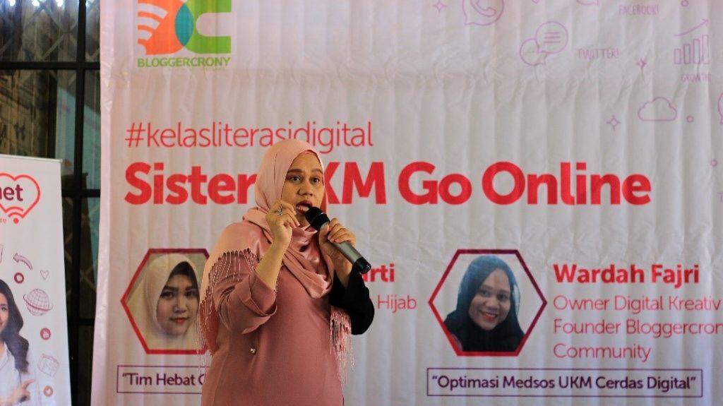 Wardah Fajri berbagi cara mengoptimasi Medsos untuk UKM (dok. BCC)